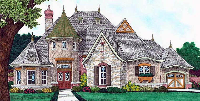 Country European French Country House Plan 96334 Elevation