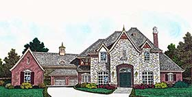 European French Country House Plan 96337 Elevation