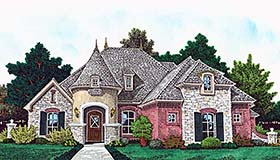 European French Country House Plan 96339 Elevation