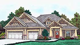 Bungalow , Craftsman , Southern House Plan 96342 with 3 Beds, 2 Baths, 3 Car Garage Elevation
