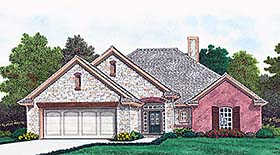European French Country Traditional House Plan 96346 Elevation