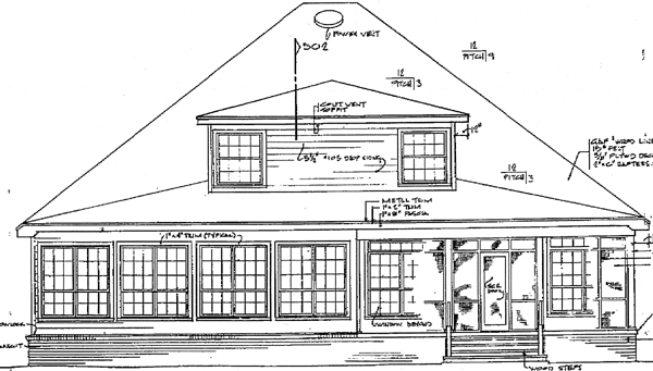 Country European House Plan 96500 Rear Elevation