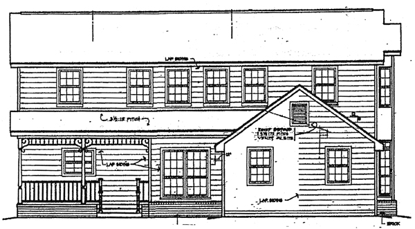 Country House Plan 96501 Rear Elevation