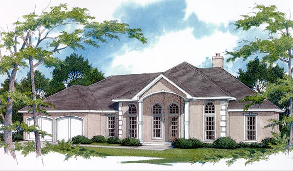 European House Plan 96503 Elevation
