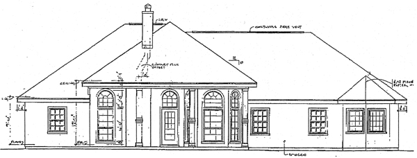 European House Plan 96503 Rear Elevation