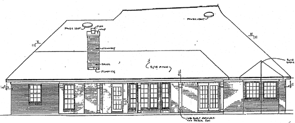European Tudor House Plan 96504 Rear Elevation