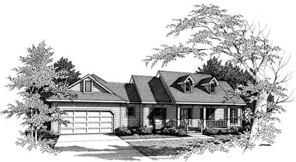 Country House Plan 96506 with 3 Beds, 3 Baths, 2 Car Garage Elevation