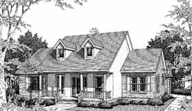 Cape Cod Country House Plan 96507 Elevation