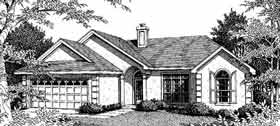 European House Plan 96508 with 3 Beds, 2 Baths, 2 Car Garage Elevation