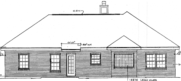 European House Plan 96508 Rear Elevation