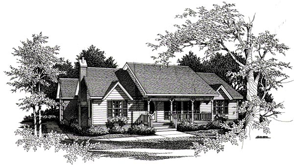 Country House Plan 96509 with 3 Beds, 2 Baths, 2 Car Garage Elevation
