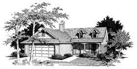 Country , Ranch House Plan 96510 with 3 Beds, 2 Baths, 2 Car Garage Elevation