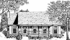 Country House Plan 96511 with 3 Beds, 2 Baths, 2 Car Garage Elevation