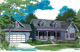Country House Plan 96513 Elevation