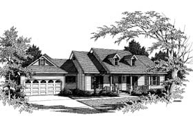 Country, One-Story House Plan 96514 with 4 Beds, 4 Baths, 2 Car Garage Elevation