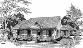Bungalow House Plan 96517 with 3 Beds, 2 Baths, 2 Car Garage Elevation
