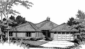 One-Story , Traditional House Plan 96518 with 3 Beds, 2 Baths, 2 Car Garage Elevation