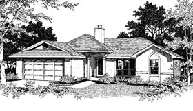 Ranch House Plan 96519 with 3 Beds, 2 Baths, 2 Car Garage Elevation