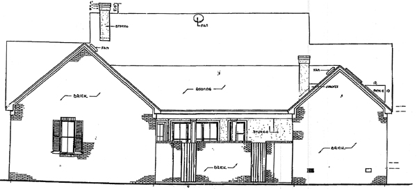 Cape Cod Colonial House Plan 96521 Rear Elevation