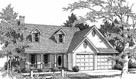 Cape Cod Country House Plan 96524 Elevation