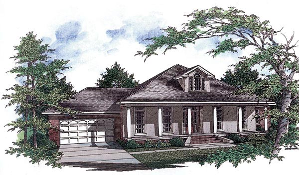 European , Colonial House Plan 96527 with 3 Beds, 2 Baths, 2 Car Garage Elevation