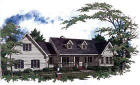 Country House Plan 96529 with 3 Beds, 3 Baths, 2 Car Garage Elevation