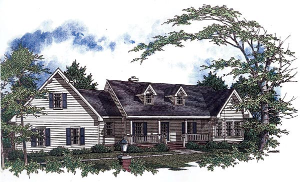Country House Plan 96529 Elevation