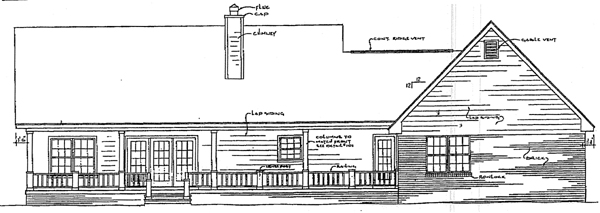 Country House Plan 96529 Rear Elevation
