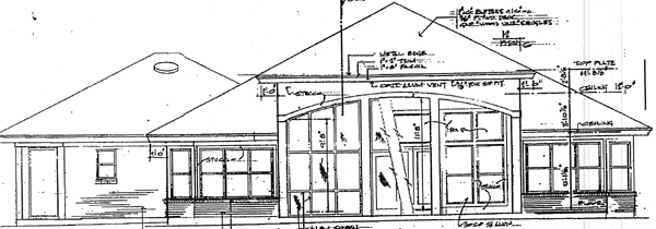 Colonial European House Plan 96530 Rear Elevation