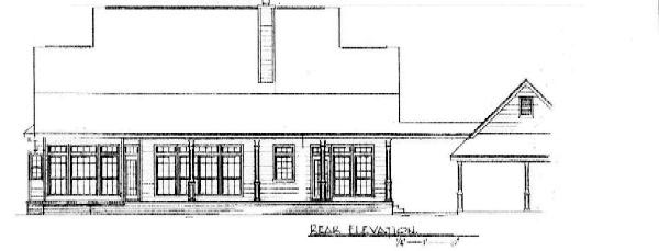 Cape Cod Country Rear Elevation of Plan 96532