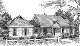 House Plan 96534 | Country Style Plan with 1765 Sq Ft, 3 Bedrooms, 2 Bathrooms, 2 Car Garage Elevation