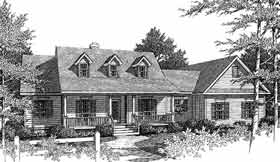 Country House Plan 96535 with 3 Beds, 2 Baths, 2 Car Garage Elevation