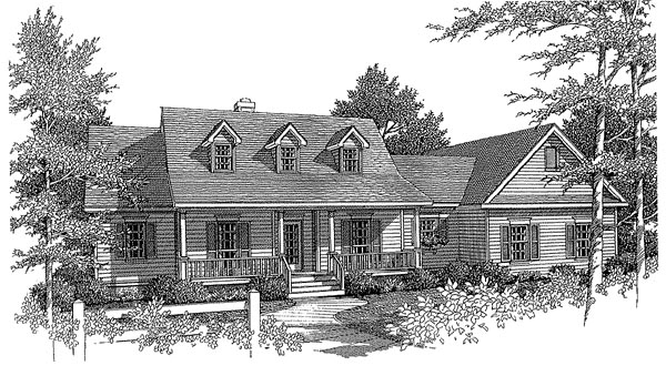 Country House Plan 96535 Elevation