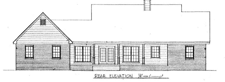 Country House Plan 96535 Rear Elevation