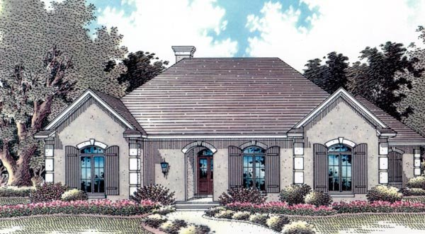 European House Plan 96539 Elevation