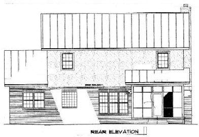 Country Rear Elevation of Plan 96541