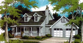 Cape Cod Country House Plan 96545 Elevation