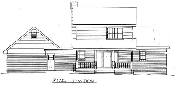 Cape Cod Country House Plan 96545 Rear Elevation