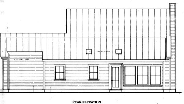 Traditional House Plan 96546 Rear Elevation