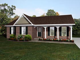 House Plan 96548 with 3 Beds, 2 Baths Front Elevation