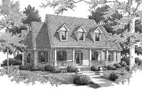 Cape Cod House Plan 96549 with 3 Beds, 4 Baths, 3 Car Garage Elevation