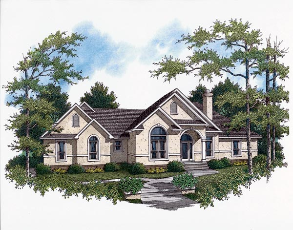 European House Plan 96550 Elevation