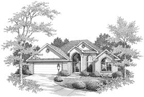European House Plan 96557 Elevation