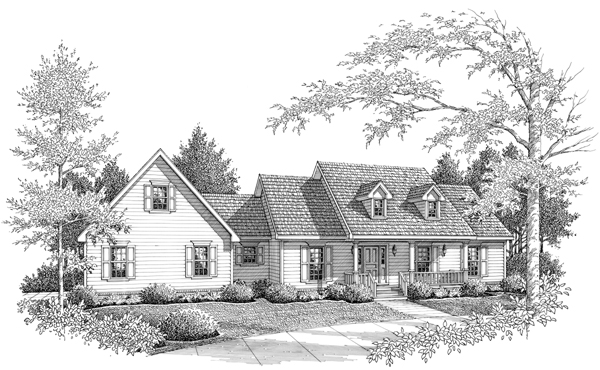 Farmhouse House Plan 96558 Elevation