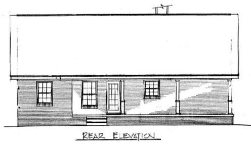 Cape Cod House Plan 96559 Rear Elevation