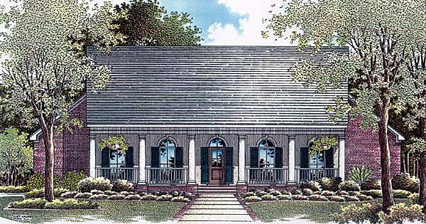 Colonial House Plan 96560 Elevation
