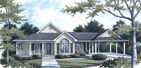 Farmhouse Traditional House Plan 96561 Elevation