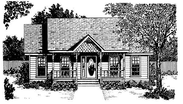 Craftsman Traditional Elevation of Plan 96562