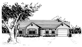 Ranch House Plan 96565 Elevation