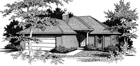 Narrow Lot , One-Story , Traditional House Plan 96566 with 2 Beds, 2 Baths, 2 Car Garage Elevation